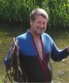 i volunteer in a river